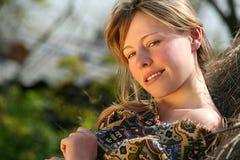 农村的女孩 图库摄影