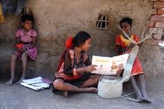 农村的女孩 库存照片
