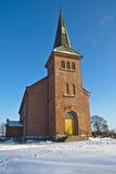 农村的教会 免版税库存图片