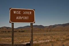 农村的机场 免版税库存图片