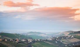 农村的横向 费尔莫省,意大利 免版税图库摄影