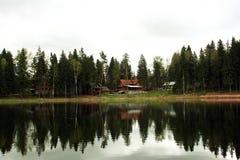 农村的湖 免版税库存照片