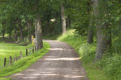 农村的路径 库存图片