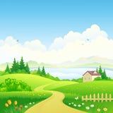 农村的路径 图库摄影