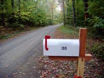 农村的邮箱 库存照片