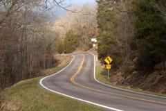 农村的高速公路 免版税库存图片
