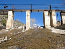 农村的水坝 免版税库存图片