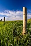 农村的fenceline 库存图片