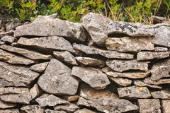 农村石墙 库存图片