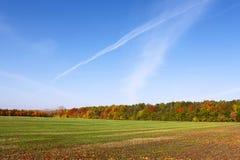 农村秋天chribska捷克横向美丽如画的共和国 库存图片