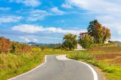 农村秋季看法在意大利 免版税库存图片