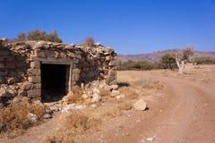 农村种田在干旱的塞浦路斯土地 图库摄影