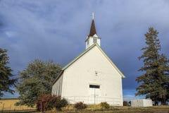 农村结冰教会在爱达荷 库存照片