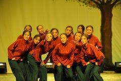 农村老妇人舞蹈2011舞蹈课毕业音乐会党 免版税库存照片