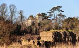 农村英国房子的庄园 库存照片