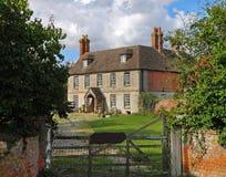 农村英国房子的庄园 免版税库存照片