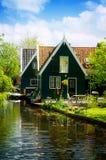 农村荷兰风景,荷兰 免版税图库摄影