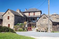 农村街道在法国 免版税库存照片