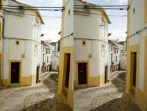 农村街道立体音响对 免版税库存照片