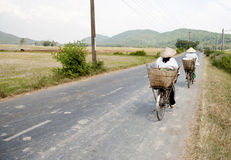 农村街道越南 库存图片
