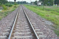 农村铁路的通行证 库存图片