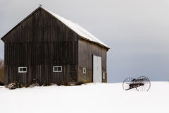 农村门诺派中的严紧派的农场在加拿大乡下 库存照片
