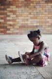 农村非洲孩子 免版税库存照片