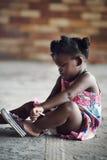 农村非洲孩子 免版税库存图片