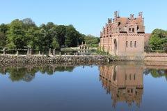 农村风景在丹麦 免版税图库摄影
