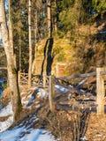 农村风景在冬天 免版税库存图片
