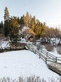 农村风景在冬天 图库摄影