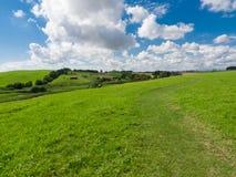 农村风景在南瑞典 免版税库存照片