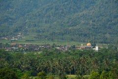 农村风景在日惹,印度尼西亚 图库摄影