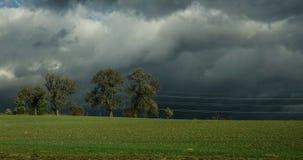 农村风景在Hallstatt,奥地利 免版税图库摄影