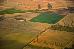农村风景的空中图象 免版税库存图片
