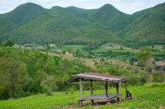 农村风景美丽的景色  库存照片