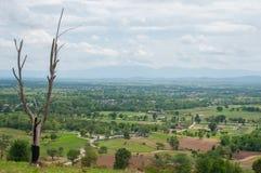农村风景美丽的景色  免版税库存照片
