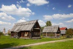 农村风景,苏兹达尔,俄罗斯 免版税库存图片
