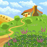 农村风景 免版税库存图片