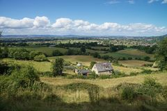 农村风景Cotswold方式 免版税库存图片