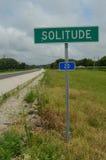 农村高速公路路标孑然 免版税图库摄影