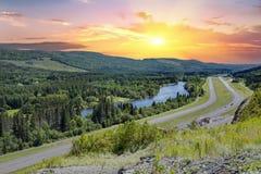 农村Edmundston新不伦瑞克,加拿大 免版税库存照片