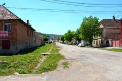 农民房子在村庄达基亚,布拉索夫县,特兰西瓦尼亚 图库摄影