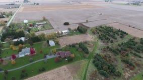 农田庄稼领域看法在美国中西部,伊利诺伊 股票录像