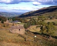 农田, Wharfdale,英国。 免版税库存图片