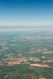 农田从飞机观看 免版税库存照片