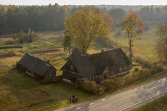 农舍在拉脱维亚 免版税库存照片