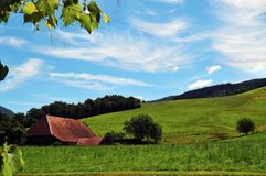 农舍在黑森林 免版税库存照片