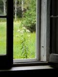 农舍老视窗 库存图片