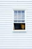 农舍视窗 库存图片